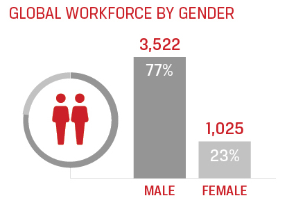 workforce by gender